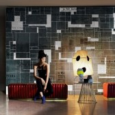 Black Bricks tapeta Wall&Deco