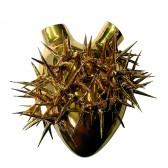 In Alto I Cuori Heart of Gold dekoracja Fos Ceramiche