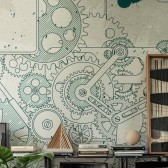 STEAMPUNK TAPETA WALL&DECO