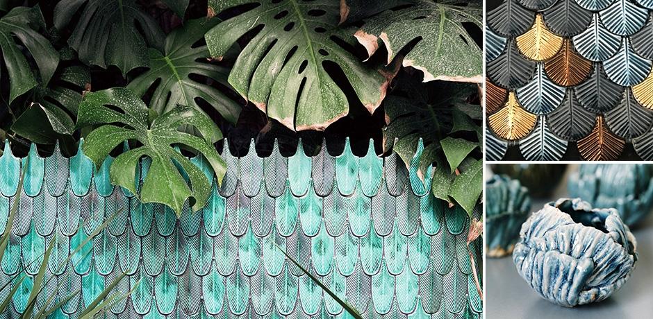 botteganove dodatki w kształcie roślin